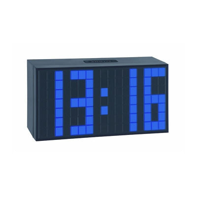TFA Time Block Digital Alarm Table Clock Blue 17cm 98.1082.06