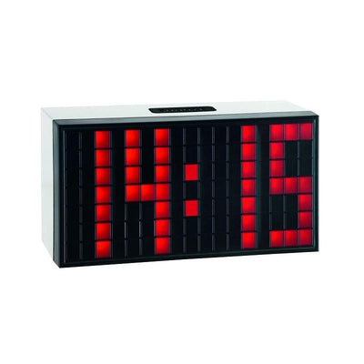TFA Time Block Digital Alarm Table Clock Red 17cm 98.1082.05
