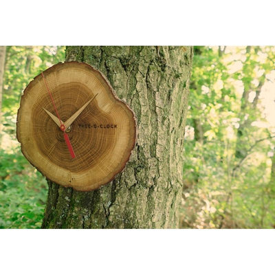 TFA Tree O' Clock Wall Clock Oak 18cm 60.3046.08 Outdoor