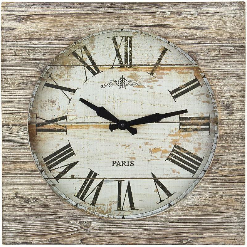 TFA Vintage Wall Clock Brown 50cm 60.3030.08