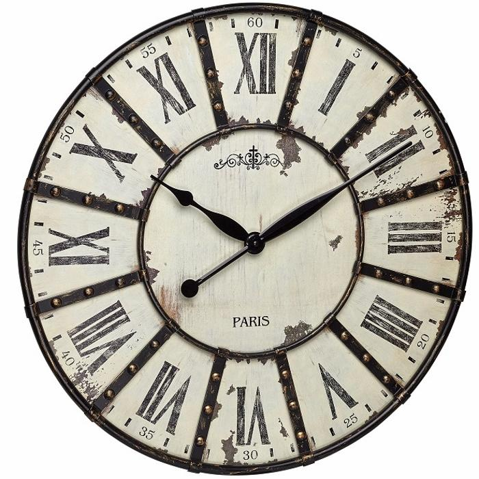 TFA Paris Vintage Metal Wall Clock, 60cm