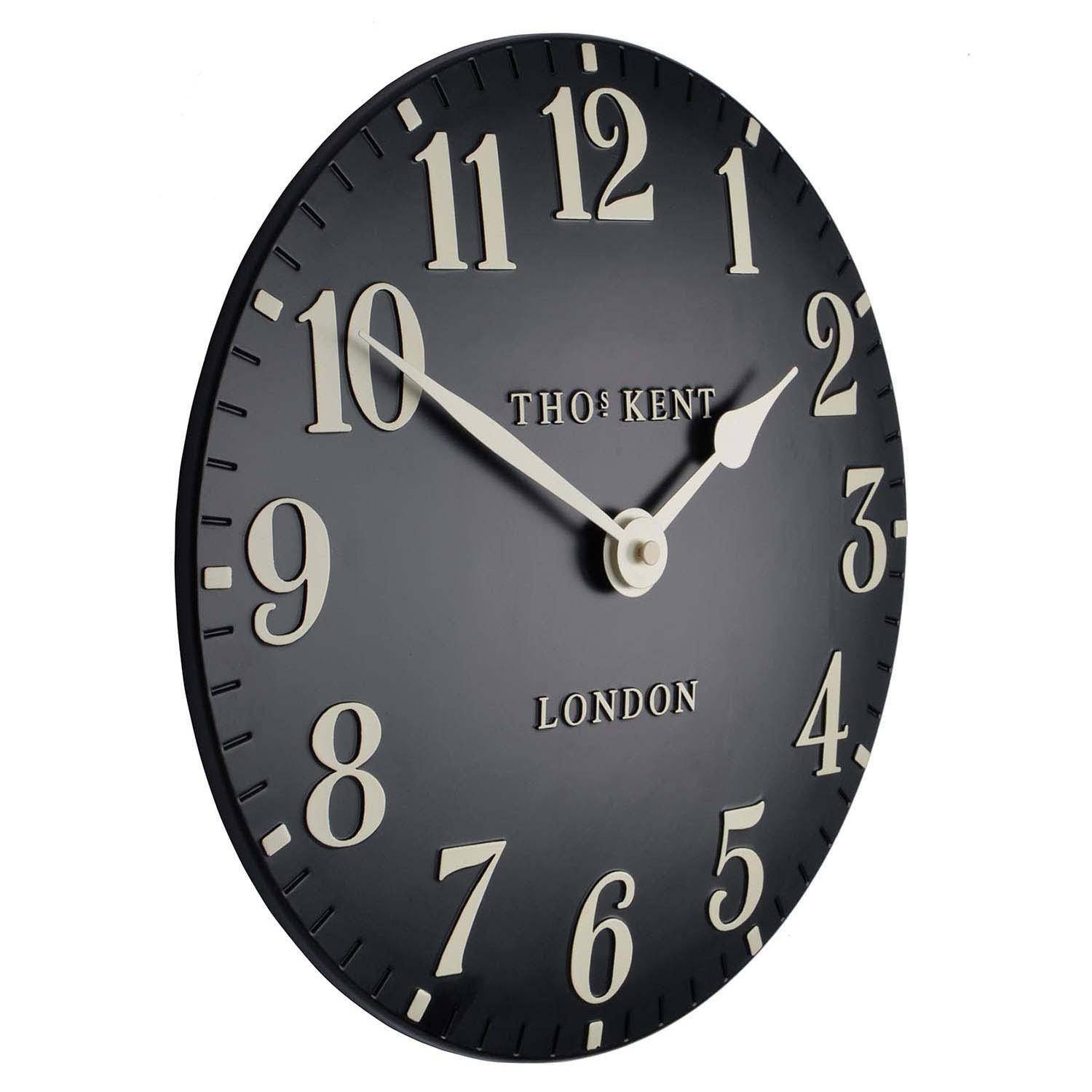 Thomas Kent Arabic Wall Clock, Black, 31cm