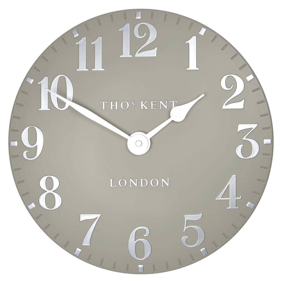 Thomas Kent Arabic Wall Clock, Cool Mink, 31cm