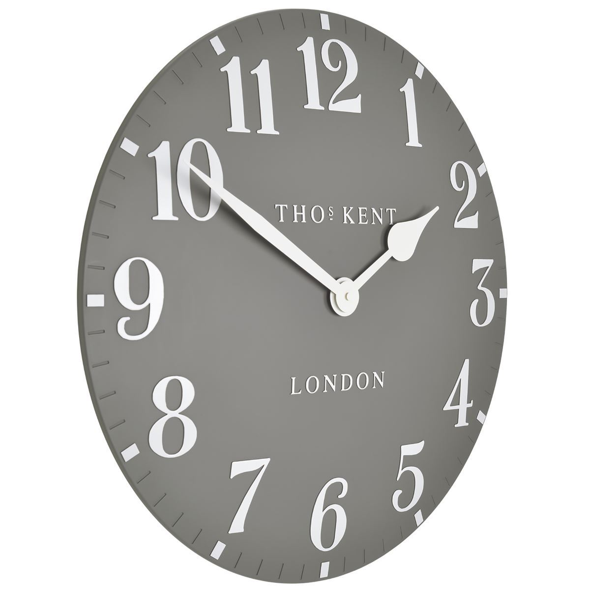 Thomas Kent Arabic Wall Clock, Dolphin Grey, 50cm