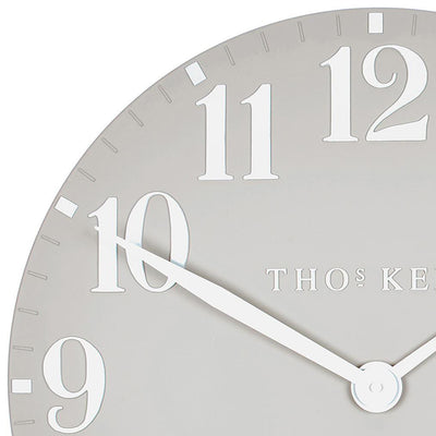 Thomas Kent Arabic Wall Clock Dove Grey 50cm CA20017 5