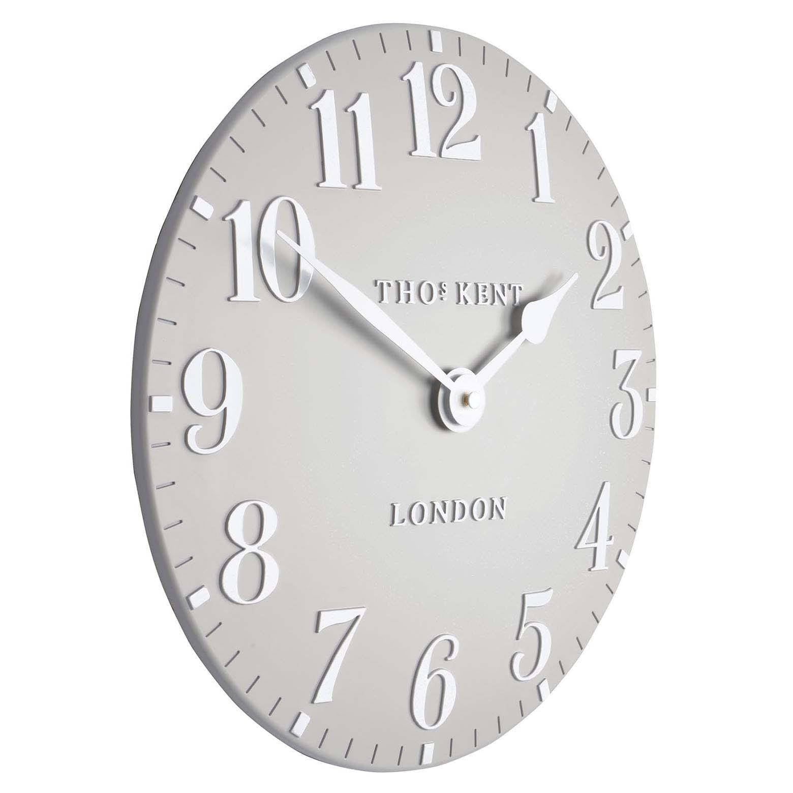 Thomas Kent Arabic Wall Clock, Dove Grey, 31cm