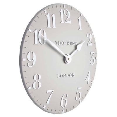 Thomas Kent Arabic Wall Clock Dove Grey Angle 31cm KC12156