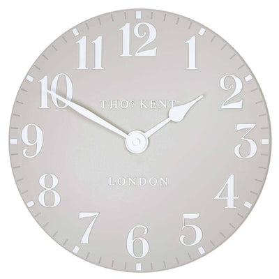 Thomas Kent Arabic Wall Clock Dove Grey Front 31cm KC12156