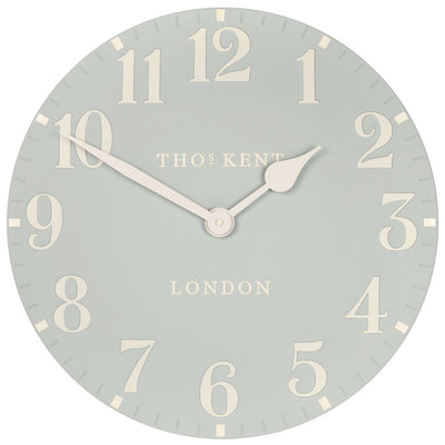 Thomas Kent Arabic Wall Clock Duck Egg 50cm CA20015 2
