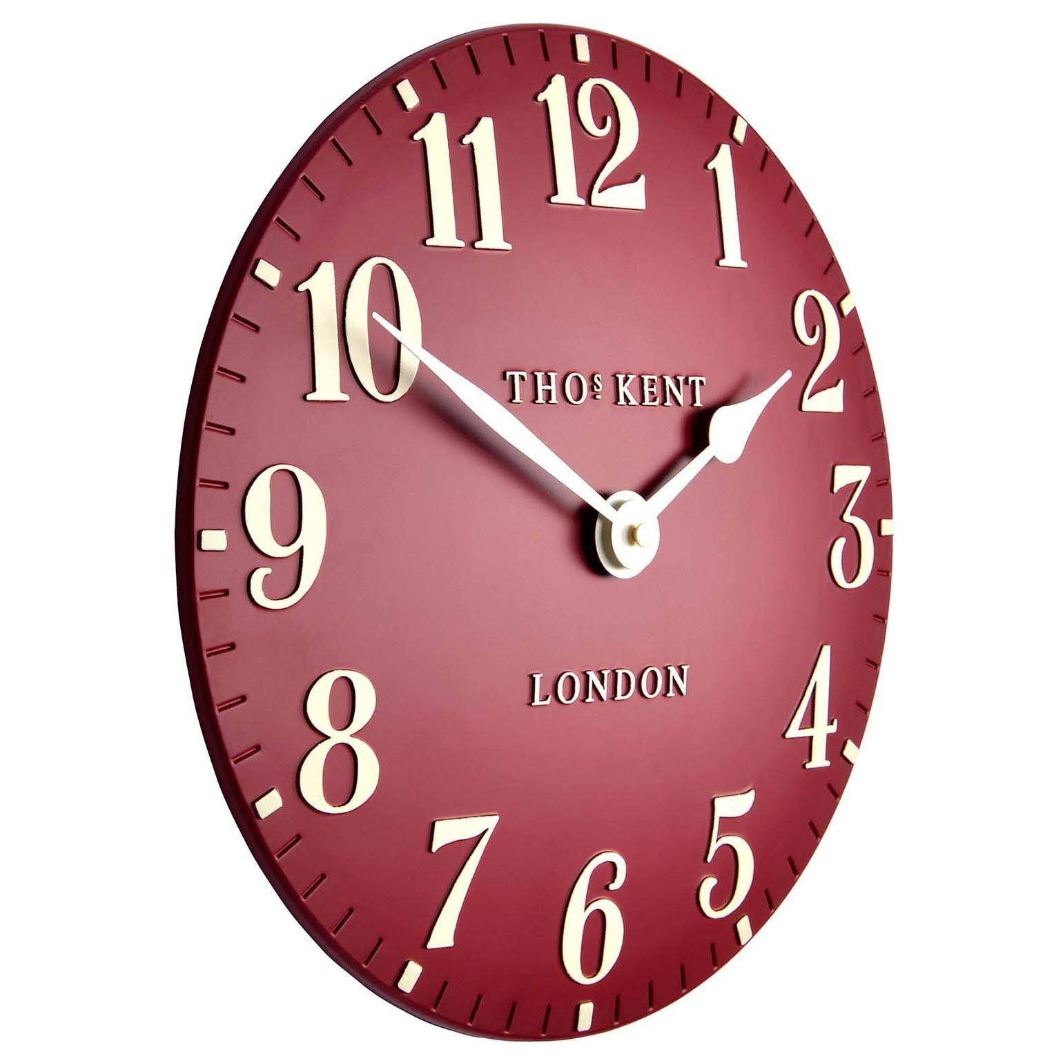 Thomas Kent Arabic Wall Clock Red Angle 31cm KC12059
