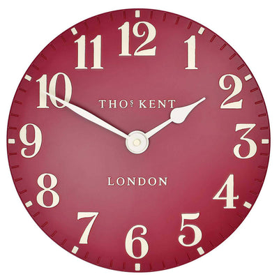 Thomas Kent Arabic Wall Clock Red Front 31cm KC12059