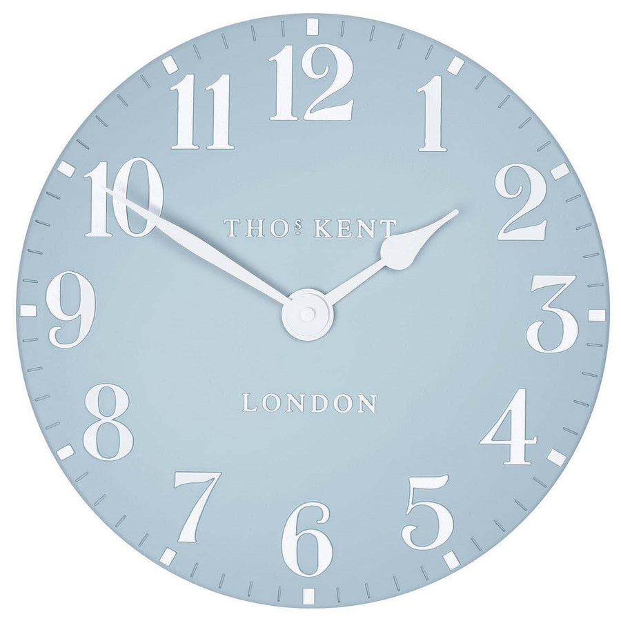 Thomas Kent Arabic Wall Clock, Stonewash Blue, 31cm