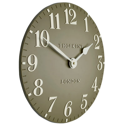 Thomas Kent Arabic Wall Clock Taupe 31cm CA12012 1