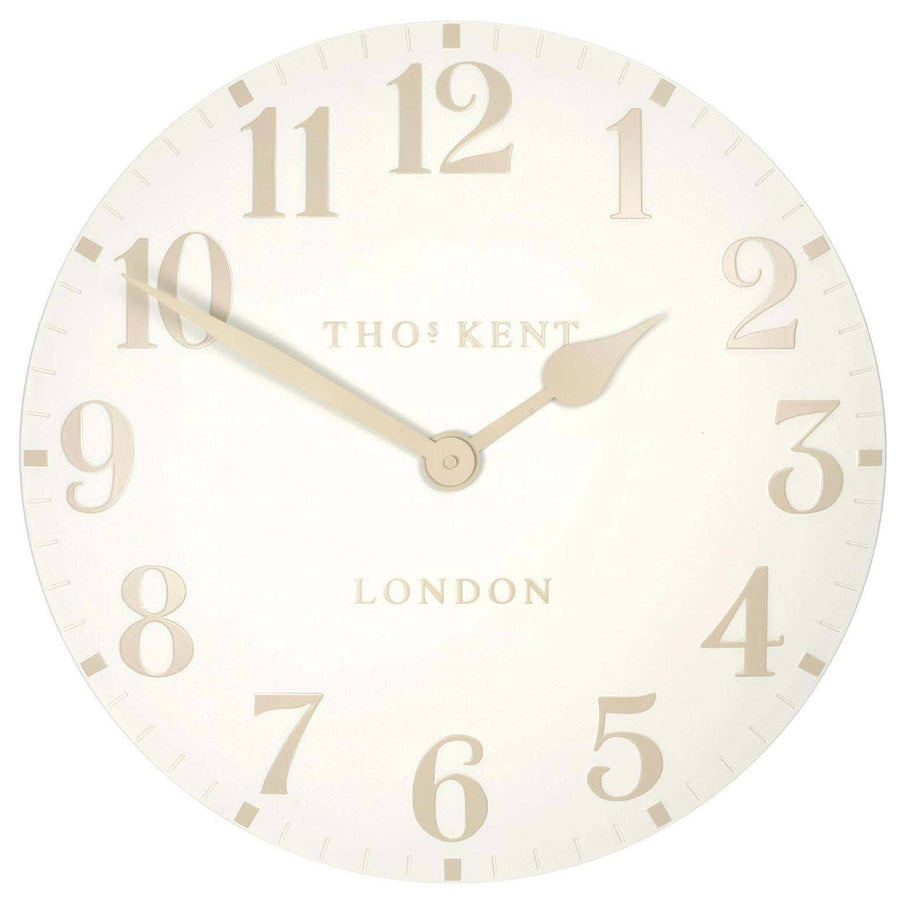 Thomas Kent Arabic Wall Clock, White Linen, 31cm