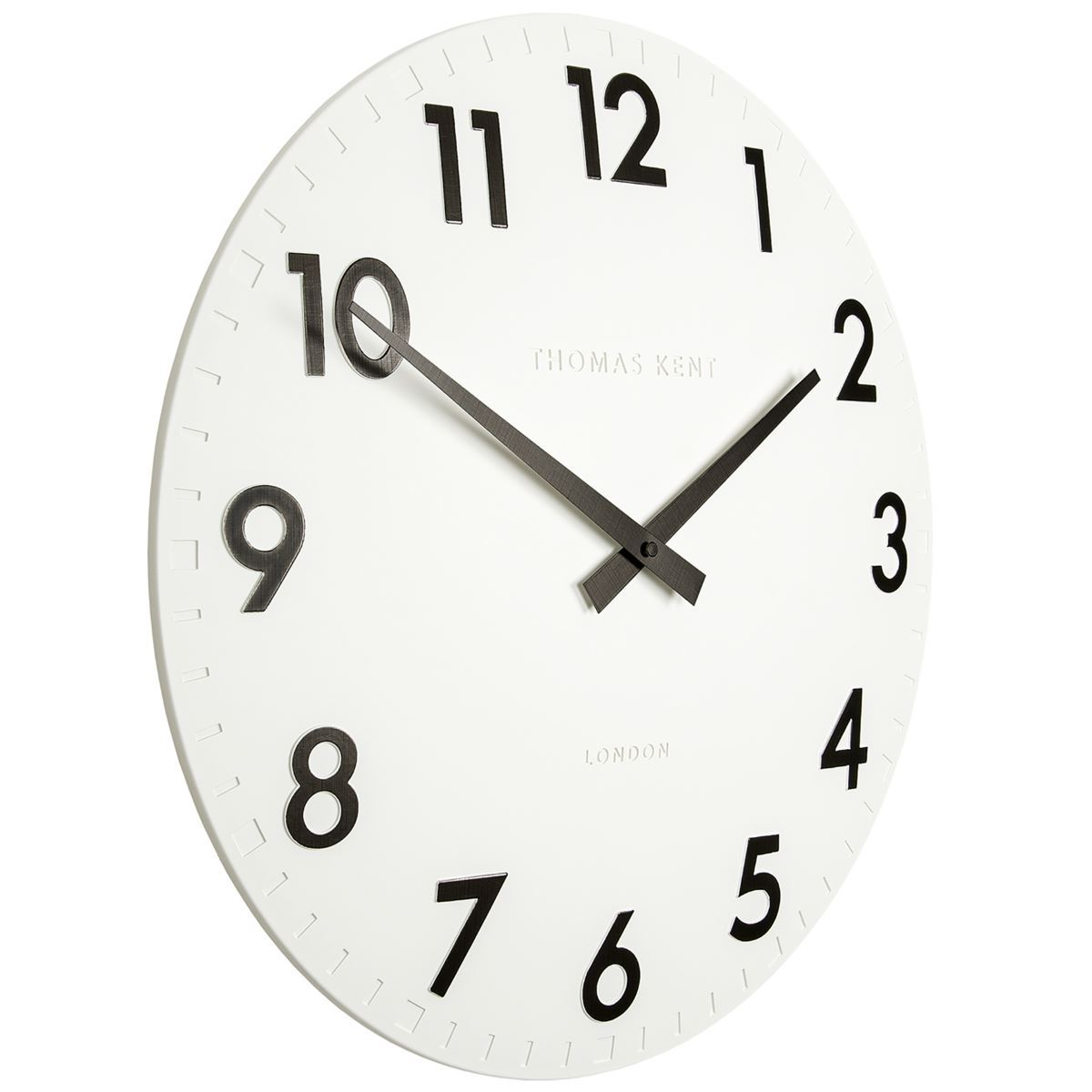 Thomas Kent Camden Wall Clock, Cotton White, 51cm