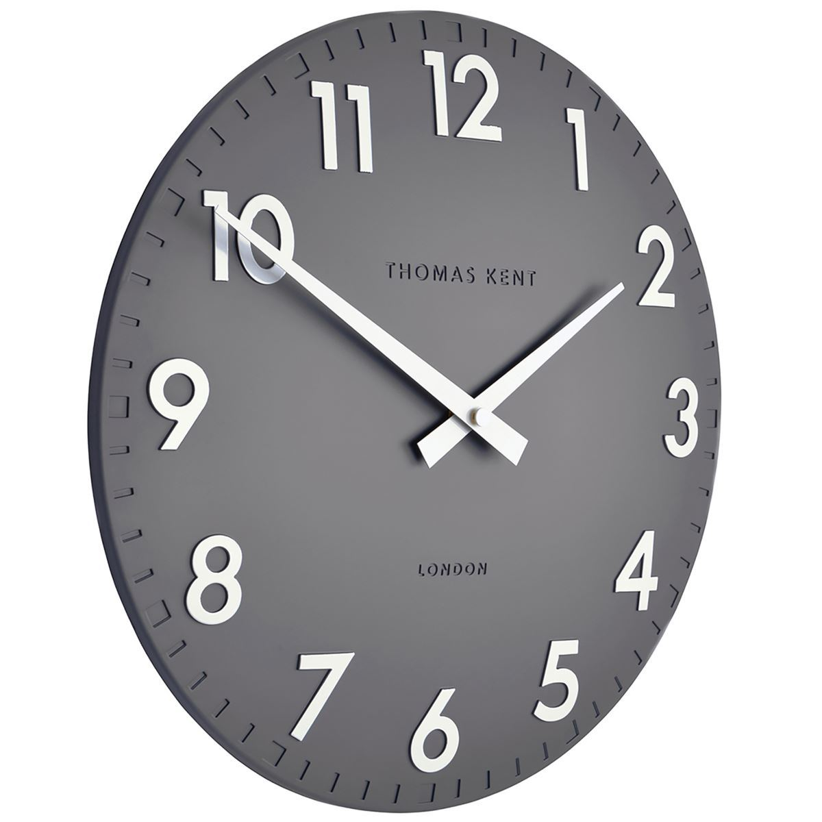 Thomas Kent Camden Wall Clock, Slate Grey, 31cm