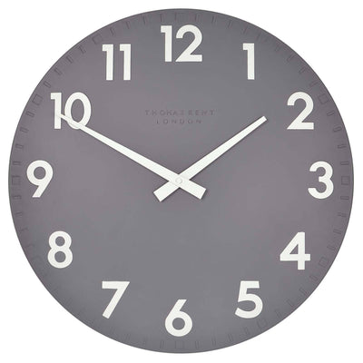 Thomas Kent Camden Wall Clock Slate Grey Front 51cm KC20112