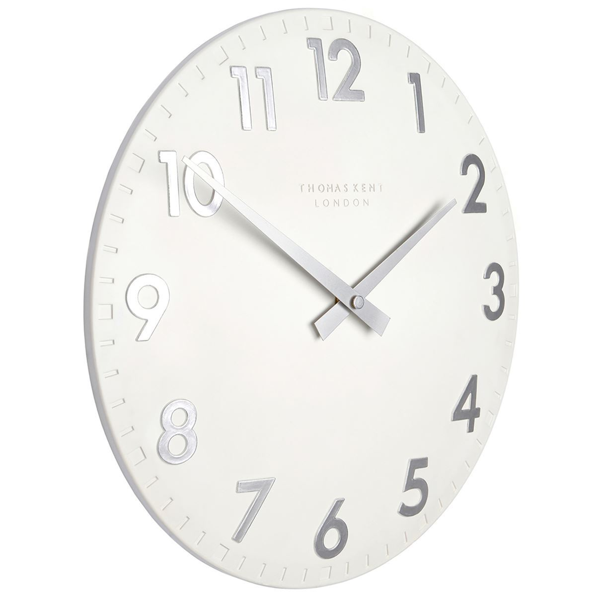 Thomas Kent Camden Wall Clock, Snowberry White, 31cm
