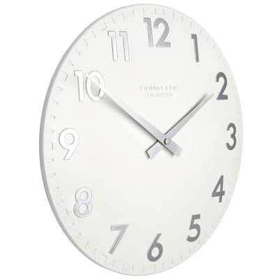 Thomas Kent Camden Wall Clock Snowberry Off White 31cm CA12204 1