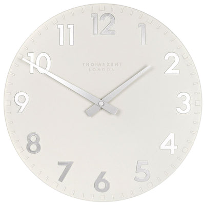 Thomas Kent Camden Wall Clock Snowberry Off White 31cm CA12204 3