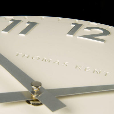 Thomas Kent Camden Wall Clock Snowberry Off White 31cm CA12204 4