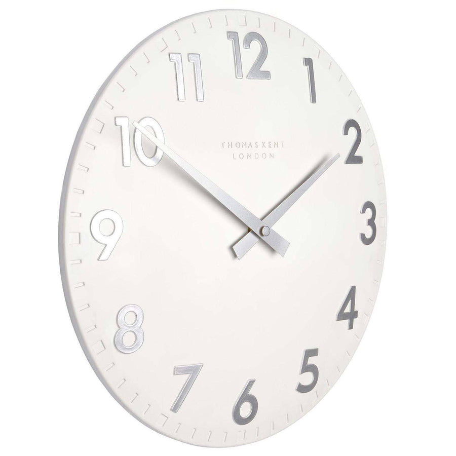 Buy thomas kent wall clocks online oh clocks australia tagged thomas kent camden wall clock snowberry white angle 51cm kc20123 amipublicfo Image collections