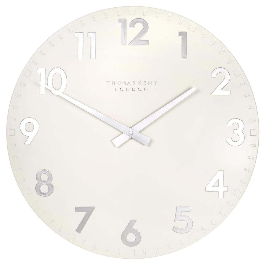 Thomas Kent Camden Wall Clock, Snowberry White, 51cm