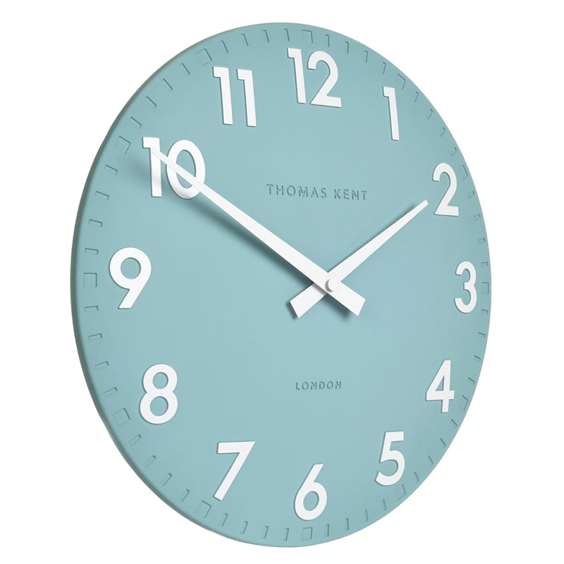 Thomas Kent Camden Wall Clock, Teal, 51cm