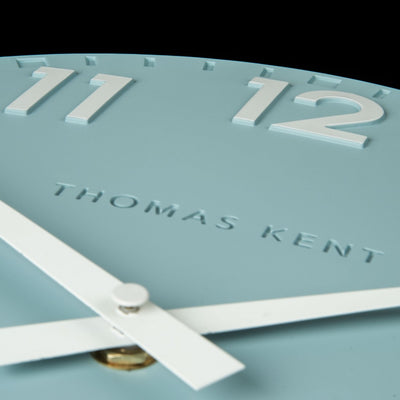 Thomas Kent Camden Wall Clock, Teal, 51cm KC20122 Closeup
