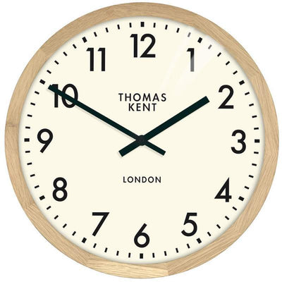 Thomas Kent Clifton Wall Clock Oak 50cm KC1801 1