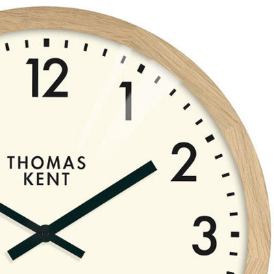 Thomas Kent Clifton Wall Clock Oak 50cm KC1801 2