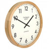 Thomas Kent Clifton Wall Clock Oak 50cm KC1801 Angle