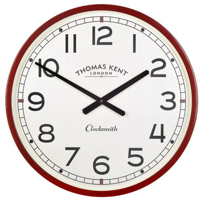 Thomas Kent Clocksmith Wall Clock Red 51cm Front KC2123