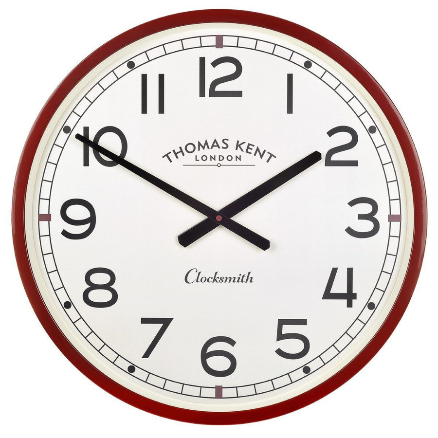 Thomas Kent Clocksmith Wall Clock, Red, 51cm