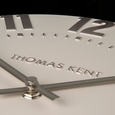 Thomas Kent Mulberry Wall Clock Blush Pink 30cm KC1201 Closeup