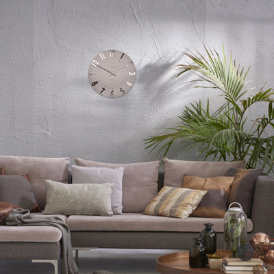 Thomas Kent Mulberry Wall Clock Blush Pink 30cm KC1201 Lifestyle