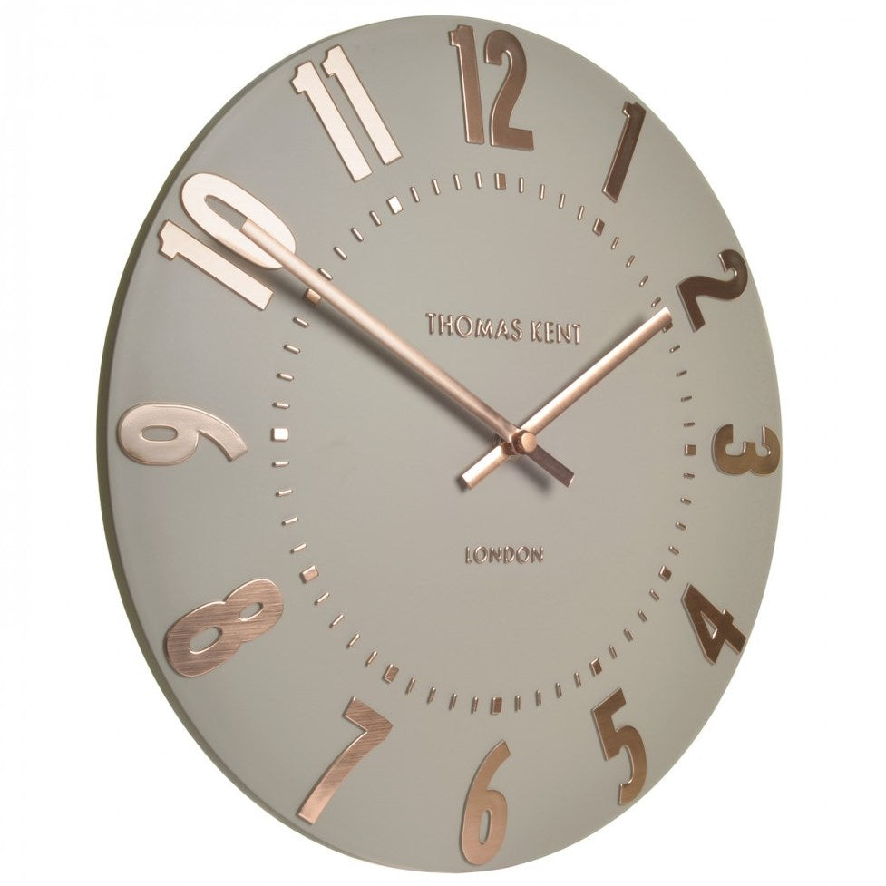 Thomas Kent Mulberry Wall Clock Rose Gold 50cm KC2052 Angle