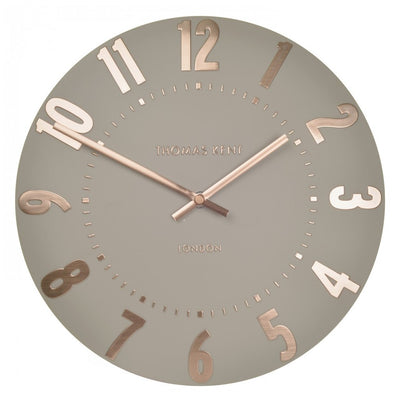 Thomas Kent Mulberry Wall Clock Rose Gold 50cm KC2052 Front