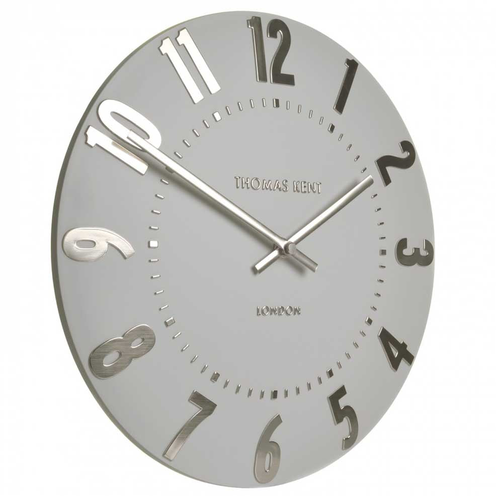 Thomas Kent Mulberry Wall Clock, Silver Cloud, 30cm