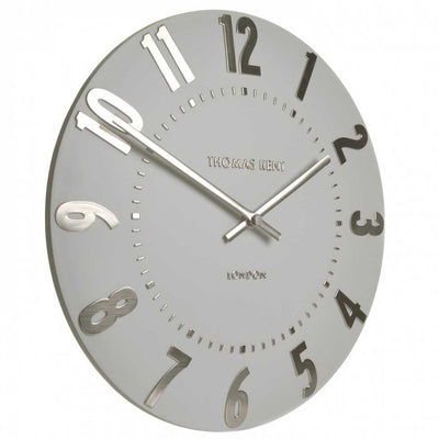 Thomas Kent Mulberry Wall Clock Silver Cloud 30cm KC1203 Angle