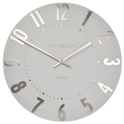 Thomas Kent Mulberry Wall Clock Silver Cloud 30cm KC1203 Front