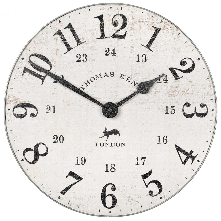 Thomas Kent Wharf Wall Clock, Chalk White, 38cm