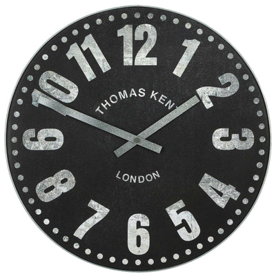Thomas Kent Wharf Wall Clock Charcoal Black 38cm KC1533 Front