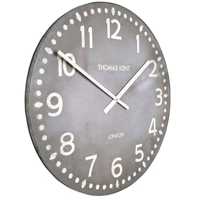 Thomas Kent Wharf Wall Clock Lead Grey 38cm KC3001 Angle