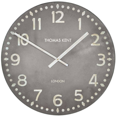 Thomas Kent Wharf Wall Clock Lead Grey 38cm KC3001 Front