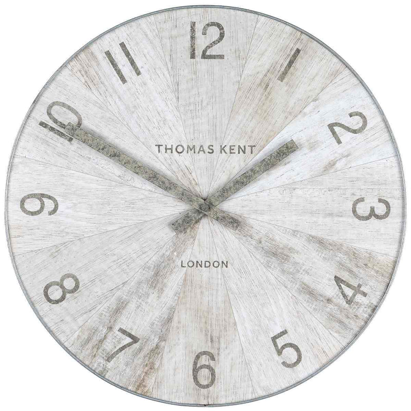 Thomas Kent Wharf Wall Clock Pickled Oak 38cm LCL0199 1