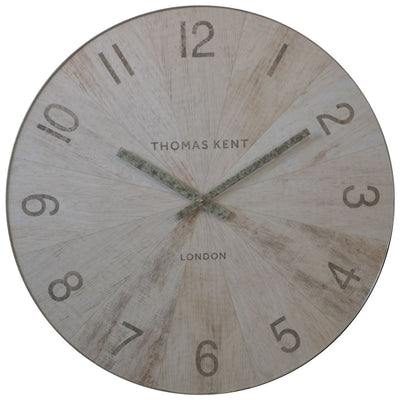 Thomas Kent Wharf Wall Clock Pickled Oak 76cm LCL0159 1