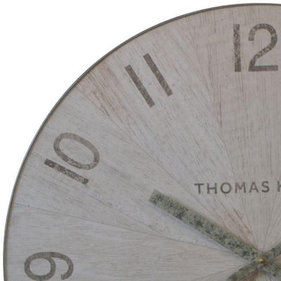 Thomas Kent Wharf Wall Clock Pickled Oak 76cm LCL0159 2