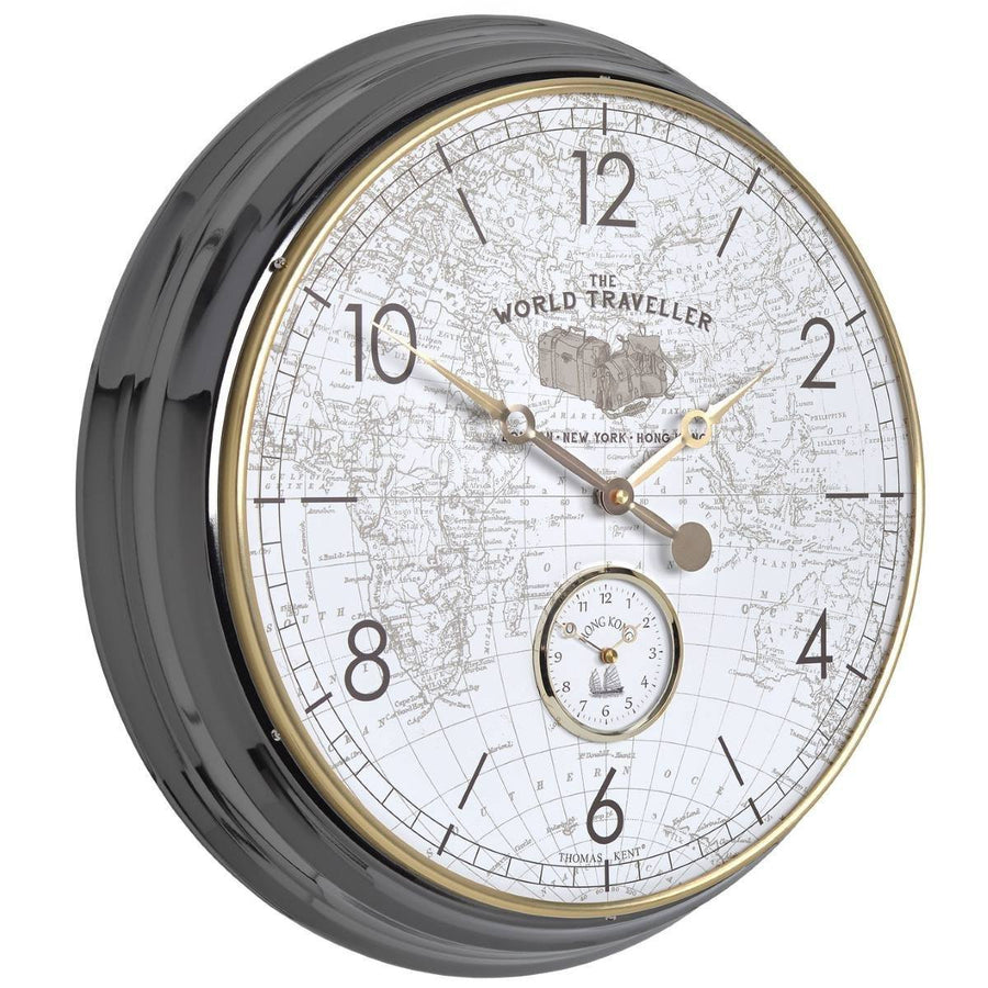 Buy thomas kent wall clocks online oh clocks australia tagged thomas kent world traveller wall clock white 51cm angle kc2003 amipublicfo Image collections