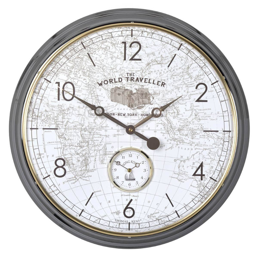 Thomas Kent World Traveller Wall Clock, White, 51cm